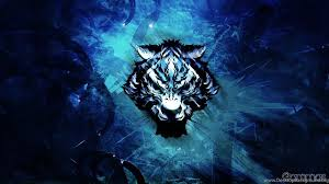 blue wolf background.  Wolf With Blue Wolf Background