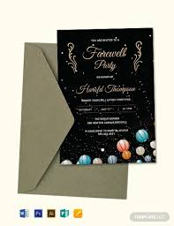 Party Invitation Template Word Free Free Farewell Party Invitation Template Word Psd