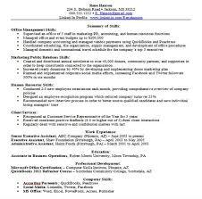 Resume Skills Summary Examples Skills Section Writing Resume