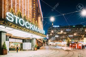 2016 Christmas Light Trade In Helsinki Finland December 6 2016 Building Of Stockmann Department