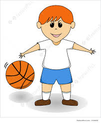 playing cartoon cartoon boy basketball illustration