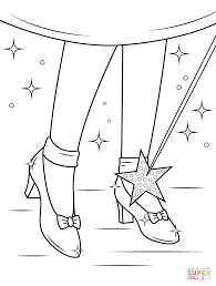 Ruby Shoes coloring page | Free Printable Coloring Pages