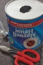 coffee can diy pendant lamp