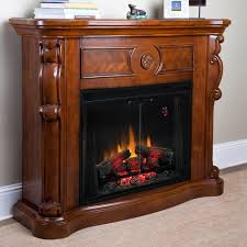 electric fireplace without mantle