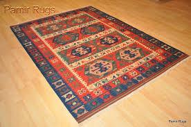 fine quality wool kilim area rug 5x7 handmade red and blue navajo design