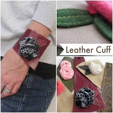 don t be afraid of alternative fabrics this leather cuff bracelet is easy to