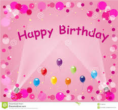 Pink Happy Birthday Balloons Stock Vector Illustration Of