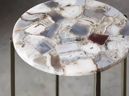 ludlow grey agate martini table