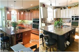 ... Beautiful Painted Kitchen Cabinets Before And After 98 For Home Remodel  Ideas With Painted Kitchen Cabinets ...