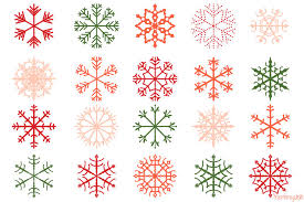 Christmas Snowflakes Pictures Red Christmas Snowflakes Clipart Set Pink Snowflake Clip