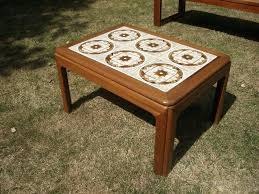 retro tiled coffee table vintage