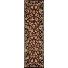 safavieh heritage kashan red black indoor handcrafted oriental runner common 2 x 14
