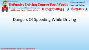 dangers of speeding while driving