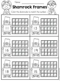 free shamrock ten frames worksheet for numbers 10 frame worksheets kindergarten