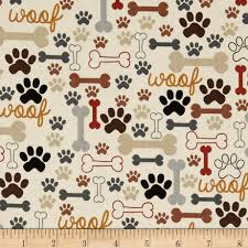 dog pictures to print. Beautiful Pictures Timeless Treasures Dog Bones U0026 Paw Prints Cream  Discount Designer Fabric  Fabriccom And Pictures To Print T