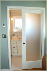 pocket door bathroom interior with translucent glass insert bathrooms idea for pool room storage frosted sliding small
