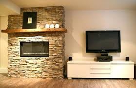 a storage fireplace tv stand above