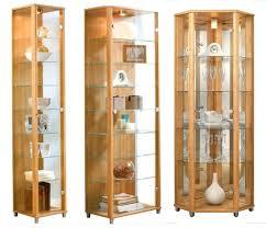 corner glass display case home oak glass display cabinets single double or corner corner shot glass
