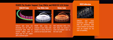 variety of rgbw uv light strips on the market thanks to the rgb fusion that allows users to redefine the pin location for the r g b signal