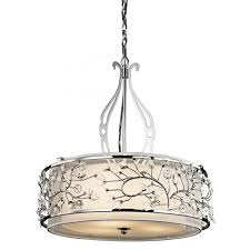 kichler lighting jardine 3 bulb chandelier round pendant with chrome finish 42391ch