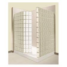 pittsburgh corning premiere series decora white glass block wall acrylic floor rectangle 2 piece corner