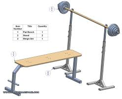 flat bench press plan subassembly list