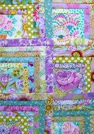 patchwork baby quilt made from Kaffe Fassett fabrics   Fabric ... & 'Purple Rain' half log cabin quilt from The Gentle Art of Quilt-Making Adamdwight.com