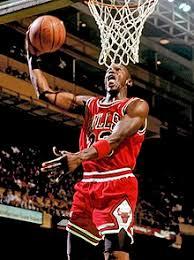 Баскетбол Википедия Майкл Джордан выполняет слэм данк
