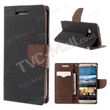 mercury goospery leather stand wallet case for htc one m9 brown black 1