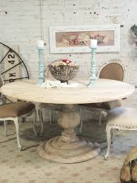 white distressed round dining table rustic chic e painted cote on custom order antique room chairs