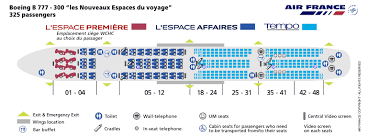 air france airlines boeing 777 300 voyage aircraft seating chart