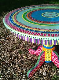 colorful painted furniture. Colorful Hand Painted Table Furniture