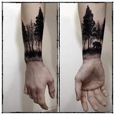 Blackwork Forest Bear Wrist Allergochirirgo эскиз идеи для