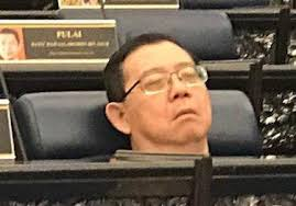 Image result for lim guan eng asleep