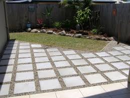 Backyard Paver Designs Interesting Style Cheap Paving Idea Download Concrete Garden Design Inspiring