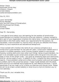 Resume For Superintendent Position Construction Superintendent