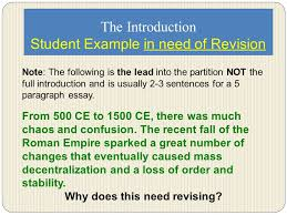essay revision tutorial introduction thesis body paragraphs  5 the introduction