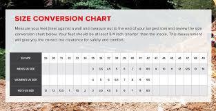 Tcx Boots Size Chart Link International