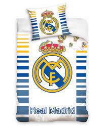 real madrid cf dash single cotton duvet cover set