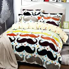 mustache bedding comforter set twin full queen king size duvet cover quilt bed linen fitted sheet