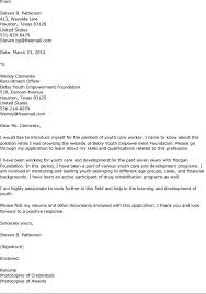 youth care cover letter example httpwwwresumecareerinfo cover letter for child care assistant