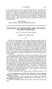 processes of adsorption and diffusion on solid surfaces  processes of adsorption and diffusion on solid surfaces