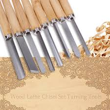 turning tools. 8pcs wood handles lathe chisel set turning tools carpenters carft woodworking gouge skew parting sculpture