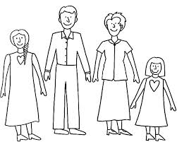 Simple Joint Family Coloring Pages Batch Coloring
