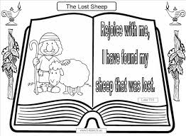 Small Picture Lost Sheep Coloring Pages Sheep Coloring Pages For Kids Coloring