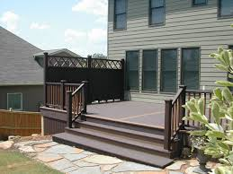 Trex Deck And Privacy Screen provide a less maintenance alternative