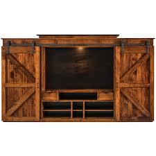 Teton Wall Unit Rustic Entertainment Center 198