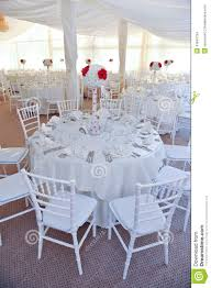 Tables Set For An Event Party Or Wedding Reception Stock Photo