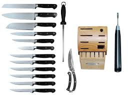 TSU 15 Piece Kitchen Knife Set With Block  Heavenly SwordsKitchen Knives Set