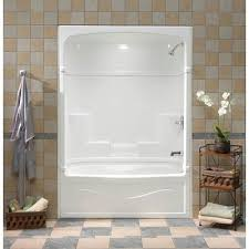 mirolin victoria 60 inch 3 piece acrylic tub and shower